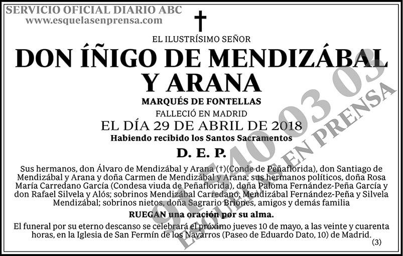 Íñigo de Mendizábal y Arana
